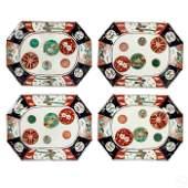 Japanese Antique Porcelain Octagonal Imari Plates