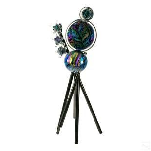 Rollin Karg Modern Abstract Art Glass Sculpture
