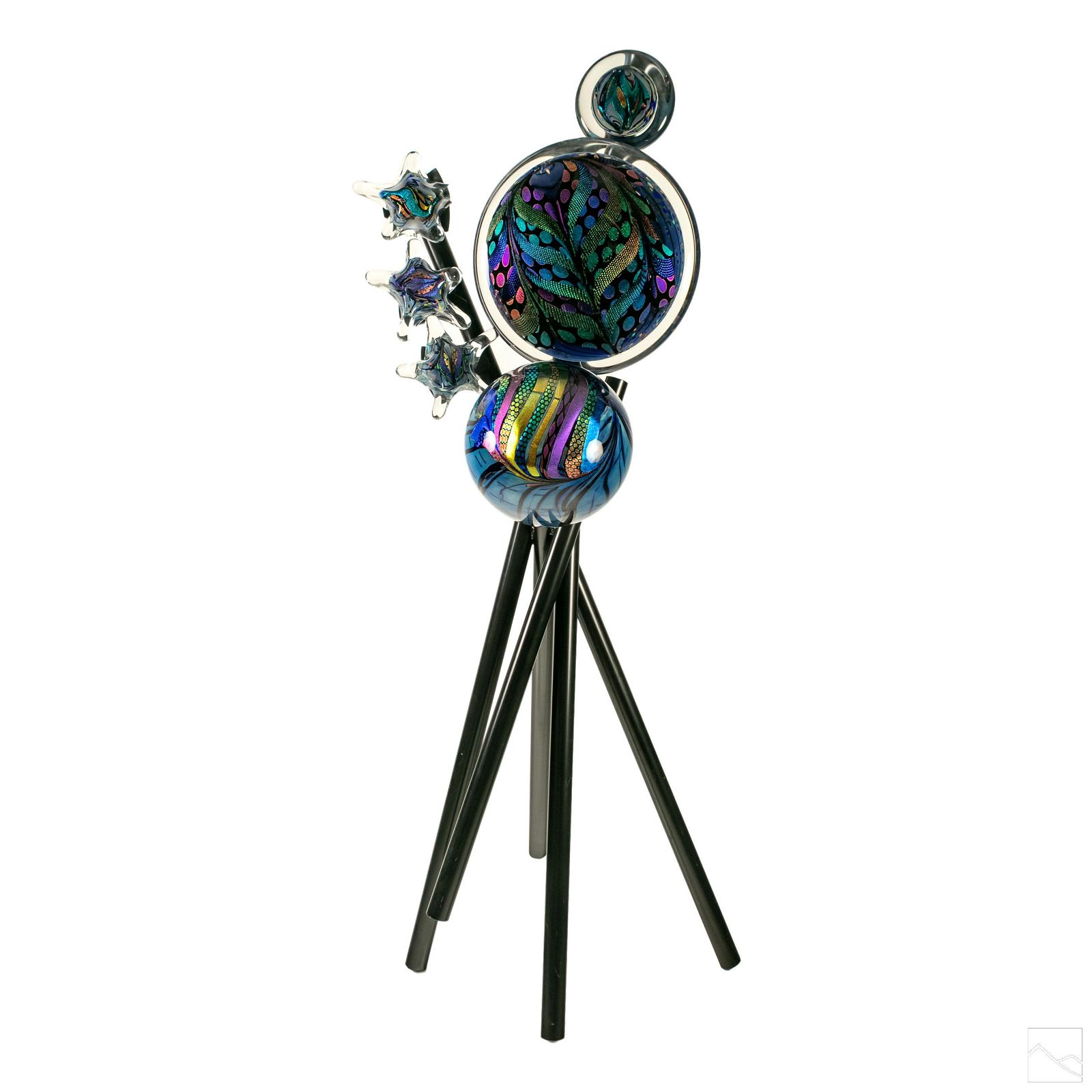 Rollin Karg Modern Abstract Art Glass Sculpture