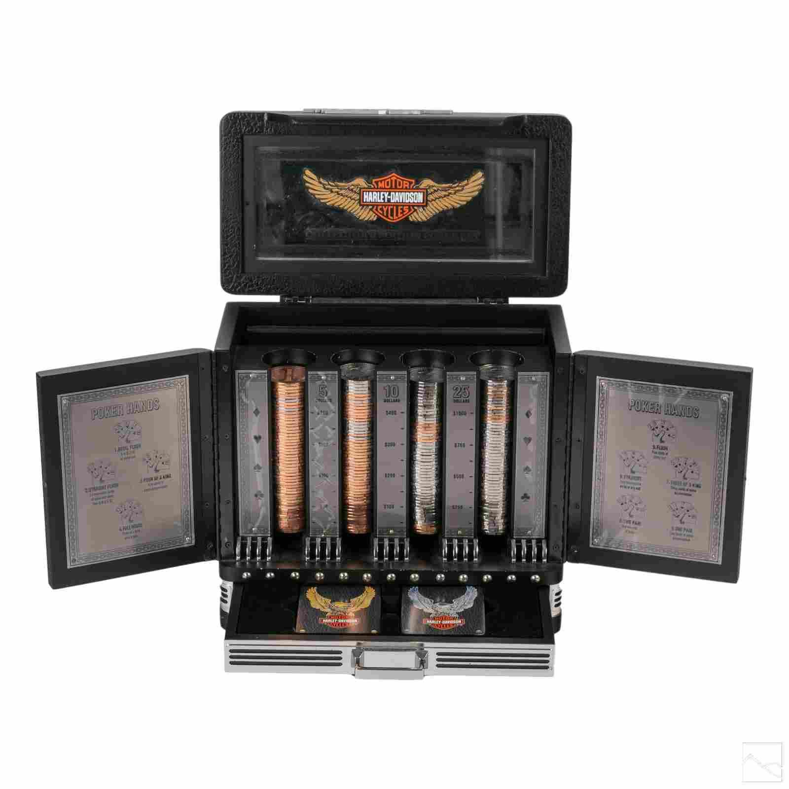 Franklin Mint Harley Davidson Collectors Poker Set
