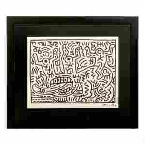 Keith Haring (1958-1990) Graffiti Pop Art Drawing