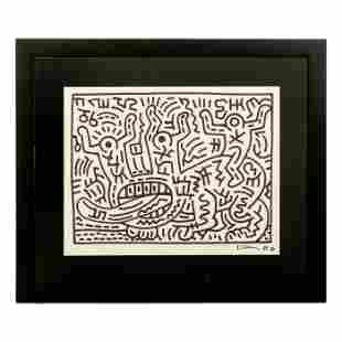 Keith Haring (1958-1990) Graffiti Pop Art Drawing
