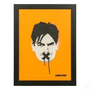 Cornsyrup Graffiti Charlie Sheen Pop Art Painting