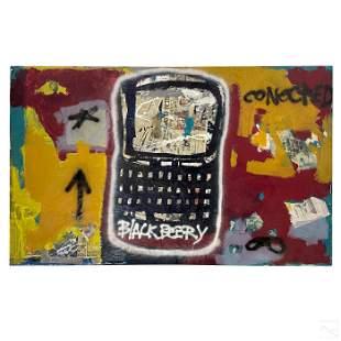 Ernest Rosenberg Outsider Graffiti Art Painting