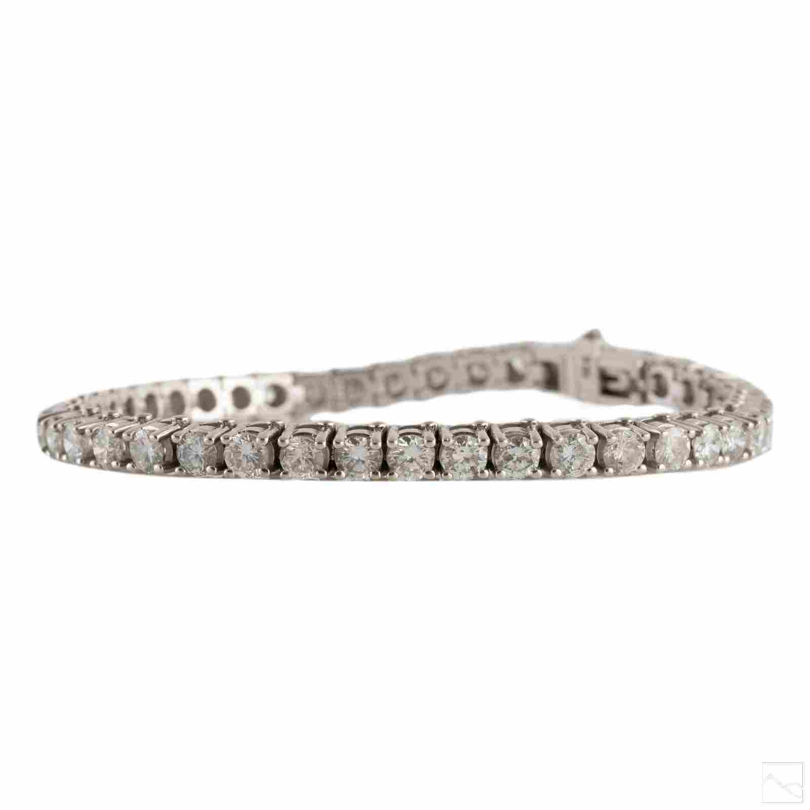 14K White Gold 7 CTTW Diamond Tennis Bracelet