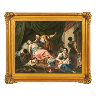 Venetian School Style Antique Figural Art Painting