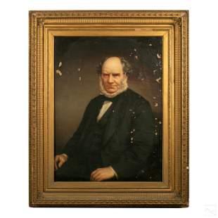 Victorian British Gentleman Portrait Oil Painting
