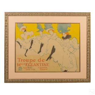 """Toulouse Lautrec """"Troupe de Mlle Eglantine"""" Litho"""