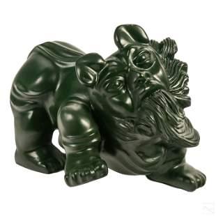 Tilsa (20C) Peruvian Abstract Bronze Dog Sculpture