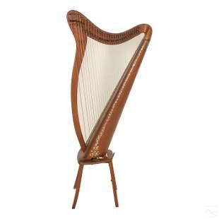 Clark Irish Harp Antique Celtic Musical Instrument