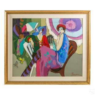 Isaac Maimon b1951 Abstract Impressionist Painting
