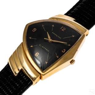 14K Gold Hamilton Ventura Men's VTG Electric Watch