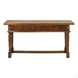 MCM Spanish Baroque Style Three Drawer Side Table