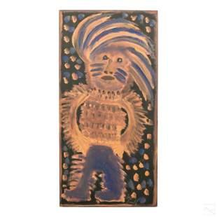 Jimmy Lee Sudduth 1910-2007 Folk Art Mud Painting
