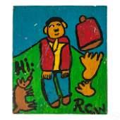 Ruby C. Williams American Naive Folk Art Painting