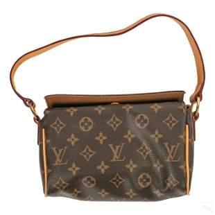 Louis Vuitton Leather Monogram LV Clutch Purse Bag