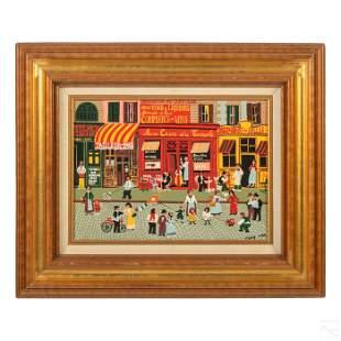 Tony Man Naive Pop Art French Cityscape Painting
