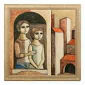 Lucio Ranucci b.1925 Realistic Cubism Oil Painting