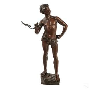 Adolphe Jean Lavergne Orientalist Bronze Sculpture