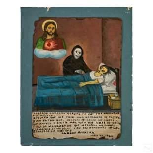 Carlos Herrera Mexican Retablo Religious Painting