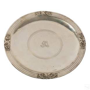 Tiffany & Co Sterling Silver Monogrammed Dish 460g