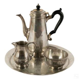 Tiffany & Co Makers Sterling Silver Tea Coffee Set