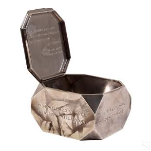 Tiffany & Co. Modernist Sterling Silver Lidded Box