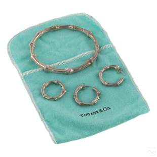 Tiffany & Co. Sterling Silver Bamboo Jewelry Suite