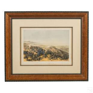 William Simpson Victorian Crimean War Lithograph