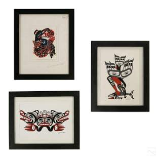 Native Alaskan and First Nations Art Litho Group