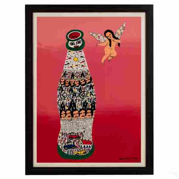 Howard Finster 1916-2001 Coca Cola Baby Serigraph