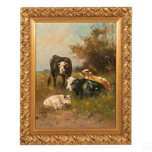 Henry Schouten 1859-1927 Dutch Landscape Painting