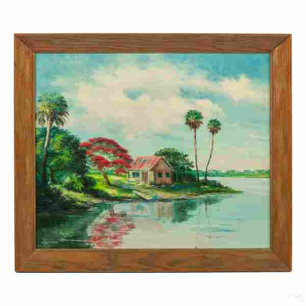 Ahmed Eltemtamy Indian River School Oil Painting