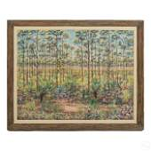 M Stanhope 20C Florida Wetlands Landscape Painting