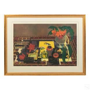 Katja Oxman b.1942 Modern Abstract Art Etching AP