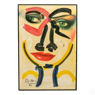 Peter Keil b.1942 Neo Expressionism Face Painting