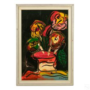 Peter Keil Neo Expressionist Still Life Painting