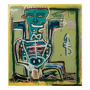 Ernest Rosenberg Outsider Graffiti Art Painting