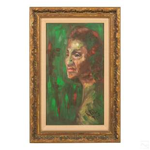 Roberto Polo b1951 Expressionism Portrait Painting