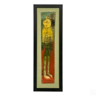Tres Taylor Naive Abstract Art Tar Paper Painting