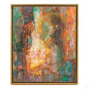Samuel Rosenberg (1896-1972) Abstract Oil Painting