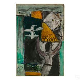 Pandi (b. 1980) Balinese Modern Abstract Painting