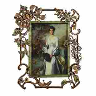 Jay Strongwater LE ELIZA Victorian Lovers Frame