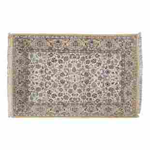 Persian Tabriz Hand Knotted Wool Area Rug Carpet