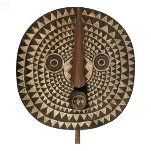 African Bwa Tribal Carved Wooden Solar Ritual Mask