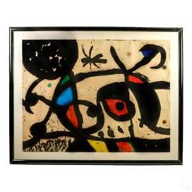 Joan Miro 1893-1983 Modern Abstract HC AP Aquatint