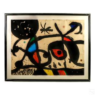Joan Miro 1893-1983 Modern Abstract HC AP Aquatint