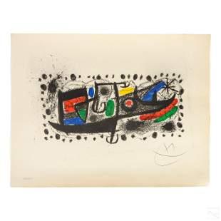 Joan Miro 1893-1983 LE Modern Catalonia Lithograph
