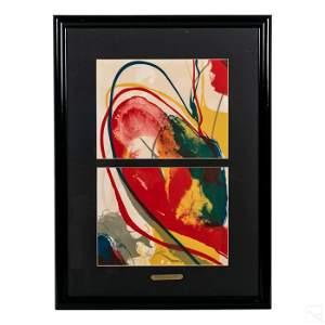 Paul Jenkins 1923-2012 Modern Abstract Lithograph