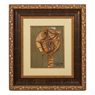 Jose Mijares (1921-2004) Modern Abstract Painting